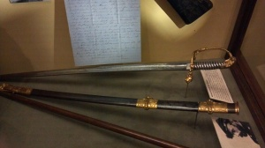 McNeil sword and letter